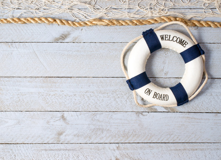 lifebuoy: Welcome on Board Stock Photo