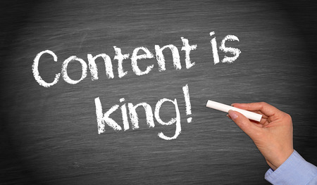 public: Content is king ! Stock Photo