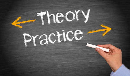 Theory and Practice Stockfoto