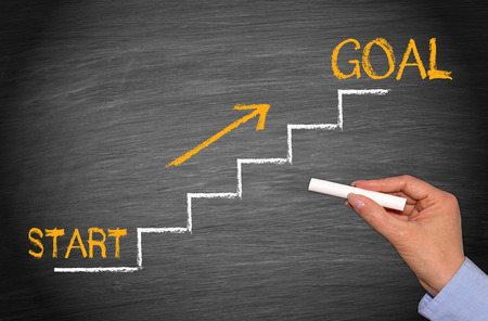 Start and Goal Foto de archivo