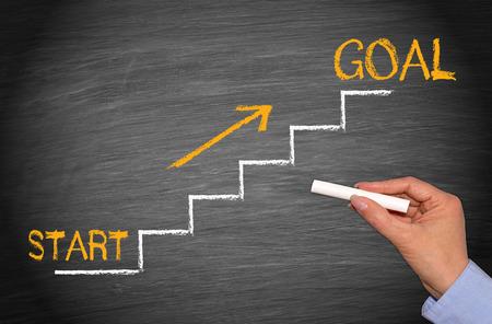 Start and Goal Stockfoto