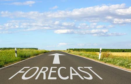 anticipated: Forecast Stock Photo