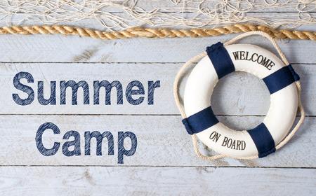 campamento de verano: Campamento de Verano Foto de archivo
