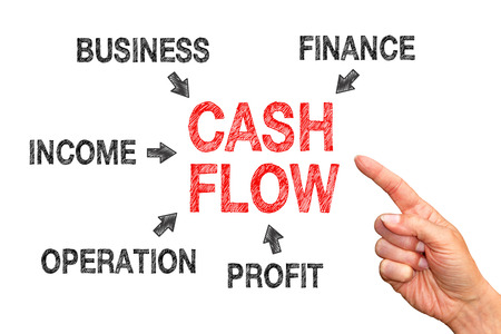 cashflow: Cash Flow - Business Concept Stock Photo