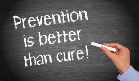 disease prevention: Prevenir es mejor que curar Foto de archivo