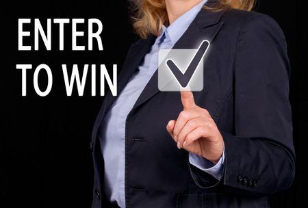 sweepstake: Enter to win Stock Photo