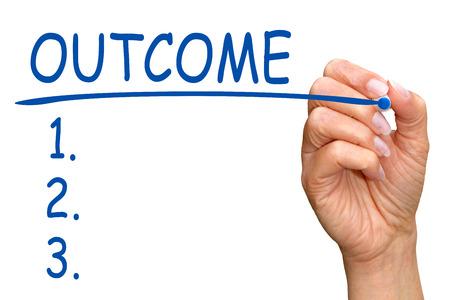 Outcome - Checklist Stock Photo