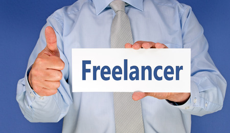 independent contractor: Freelancer Stock Photo