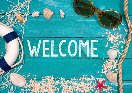 the welcome: Bienvenido a la playa