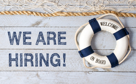 We are hiring! - Welcome on Board on wooden