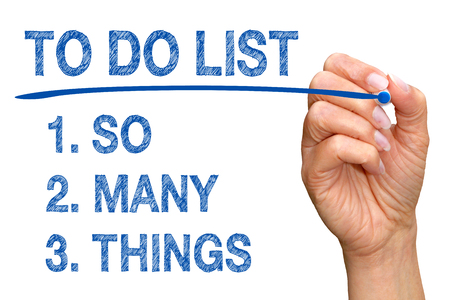 things to do: To Do List - So Many Things Stock Photo