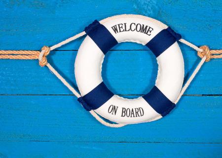voile: Bienvenue � bord Banque d'images