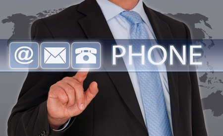 Telefonkontakt Standard-Bild - 36740786