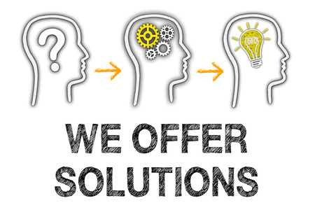 we: We offer Solutions