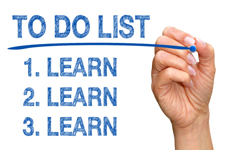 better performance: To Do List - Learn Learn Learn Stock Photo