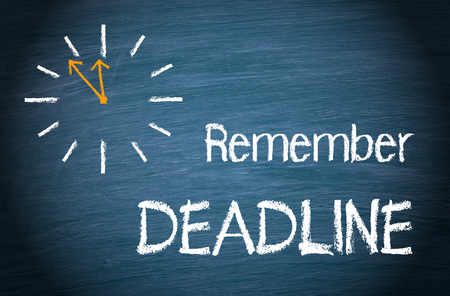 Remember Deadline Reklamní fotografie