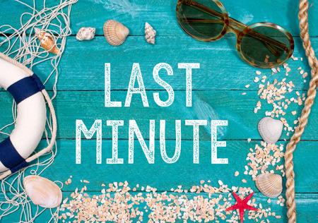 Last Minute vakantie Stockfoto