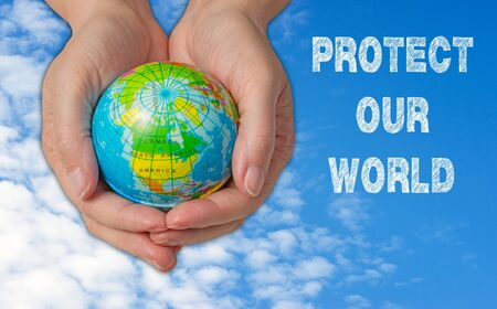 protect: Protect our World Stock Photo