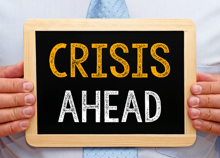 brokerage: Crisis ahead Stock Photo