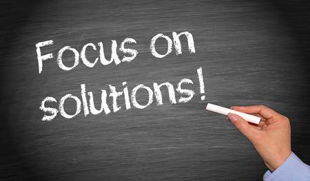 solucion de problemas: Centrarse en las soluciones! Foto de archivo