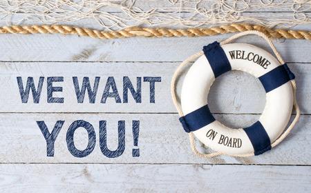 acogida: Queremos que usted - Bienvenido a bordo