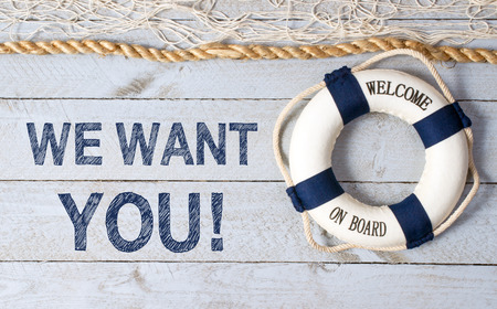 We want YOU - Welcome on Board Reklamní fotografie - 42676264
