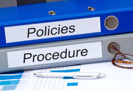 Richtlinien und Vorgehensweise Standard-Bild - 42676278