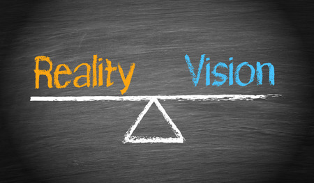 real leader: Reality and Vision - Balance Concept