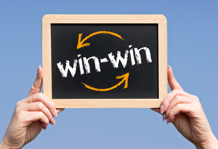 to win: Win-Win Situation - Business Concept