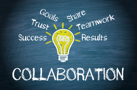 business relationship: Collaboration - Business Concept Stock Photo
