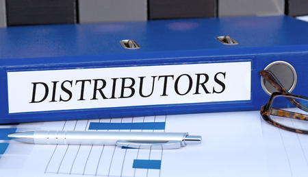 distributor: Distributors - blue binder in the office