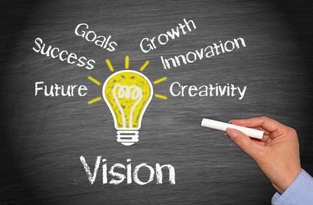 Visión - Concepto de negocio Foto de archivo - 43929518
