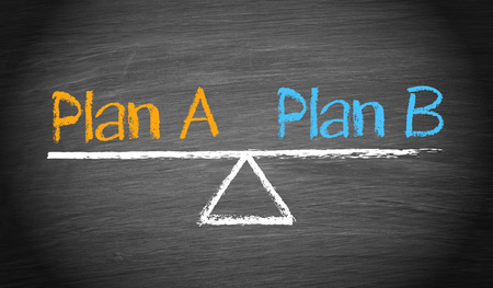 Plan A and Plan B - Balance Concept Stock Photo - 43929523