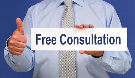 hand free: Free Consultation Stock Photo