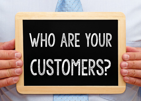 customer relationship: Who are your Customers ? Stock Photo