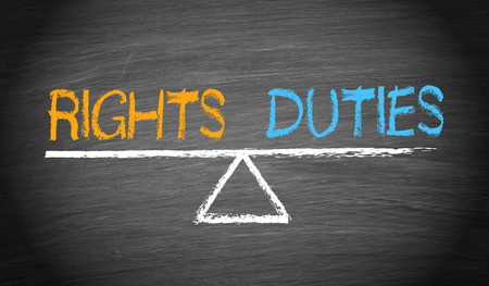 moral obligation and justice: Rights and Duties - Balance Concept