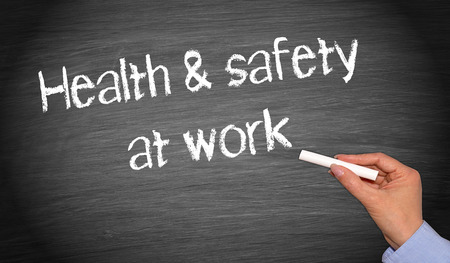 Gezondheid en veiligheid op het werk Stockfoto