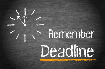 Remember Deadline Archivio Fotografico