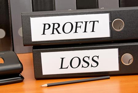 profit or loss: Ganancia y perdida Foto de archivo