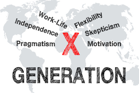 demografia: X Generaci�n - Concepto Foto de archivo