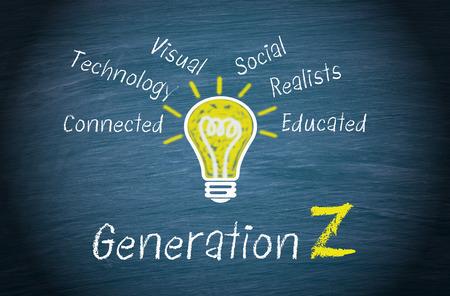 Generatie Z Stockfoto