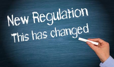 regulation: New Regulation Stock Photo