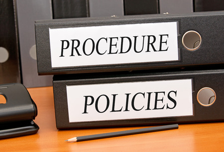 Procedure and Policies Foto de archivo