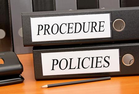 Procedure and Policies Stockfoto
