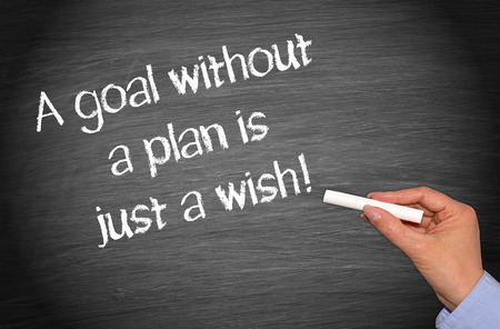 A goal without a plan is just a wish ! Stock fotó - 43953627