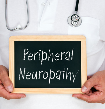 lepra: Neuropatía periférica Foto de archivo
