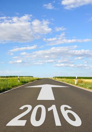 2016 - New Year - street with arrow