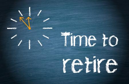retire: Time to retire Stock Photo