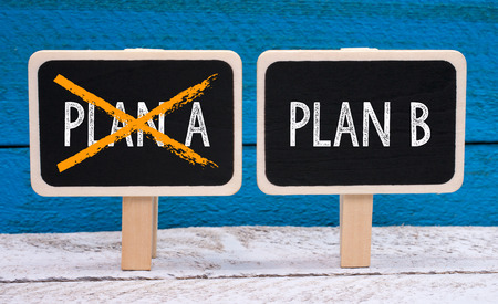 plan b: Plan B Stock Photo