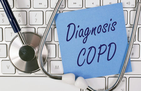 a diagnosis: Diagnosis COPD Stock Photo